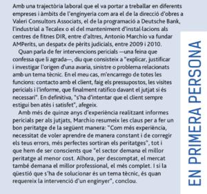 Entrevista perito ingeniero Antonio Marchio