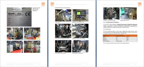 Informe pericial tasación maquinaria industrial
